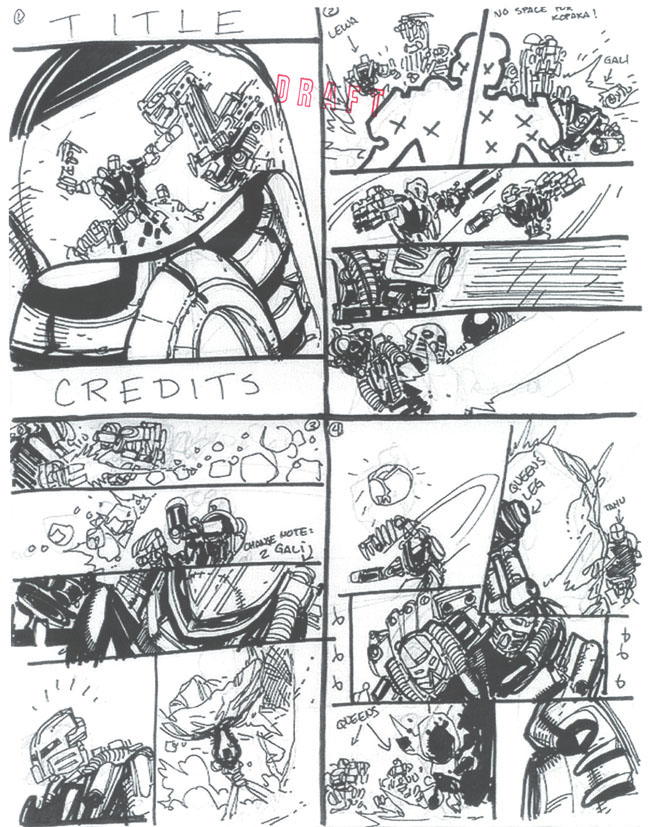 BIONICLE #8 Draft Pg. 1