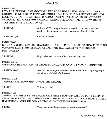 BIONICLE #8 Script Pg. 2