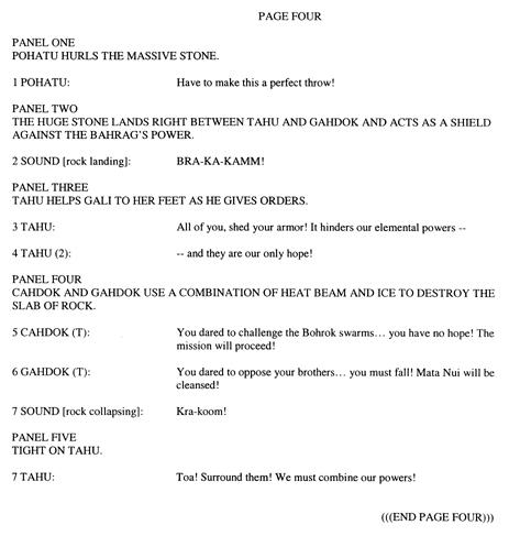 BIONICLE #8 Script Pg. 4
