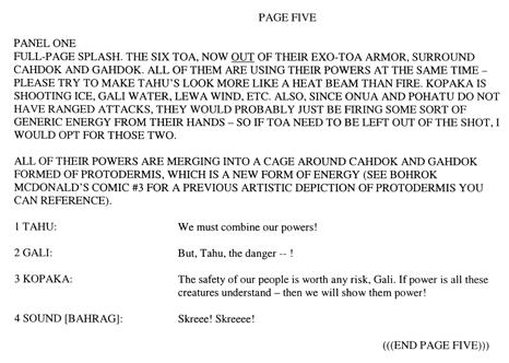 BIONICLE #8 Script Pg. 5