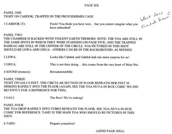 BIONICLE #8 Script Pg. 6