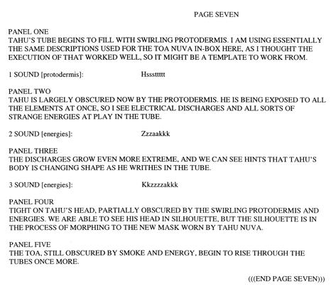 BIONICLE #8 Script Pg. 7