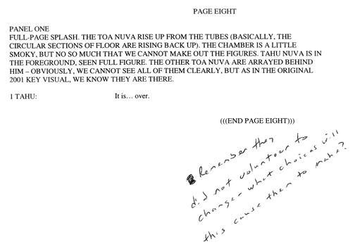 BIONICLE #8 Script Pg. 8