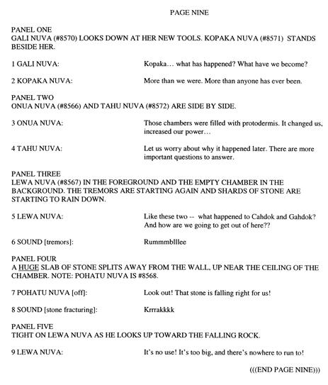 BIONICLE #8 Script Pg. 9