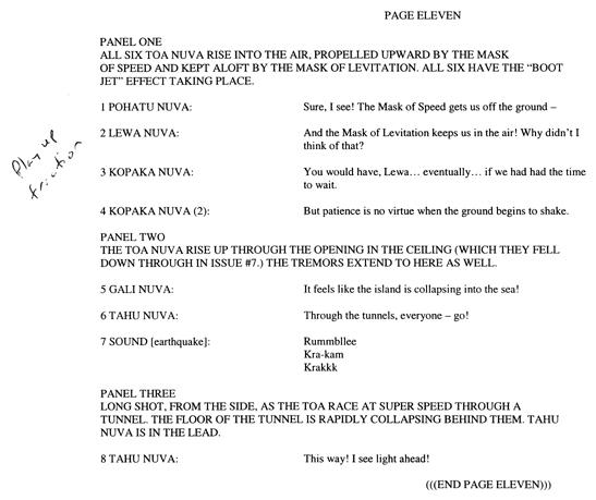 BIONICLE #8 Script Pg. 11