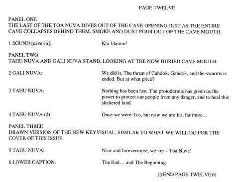 BIONICLE #8 Script Pg. 12