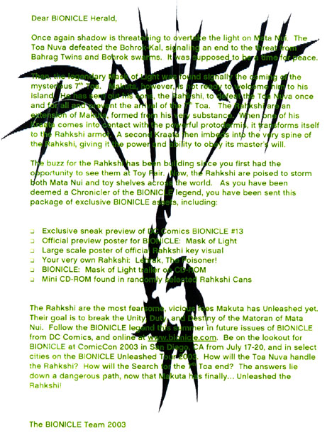 RAHKSHI Press Kit Letter