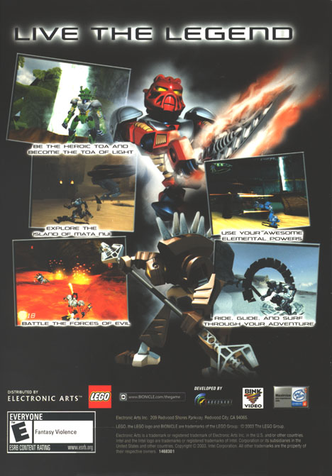 BIONICLE� PC CD-ROM Back