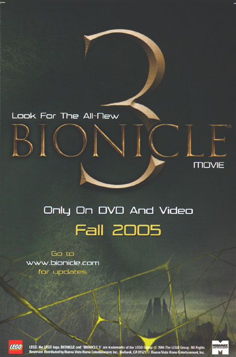 <I>BIONICLE&reg; 3</I> Ad