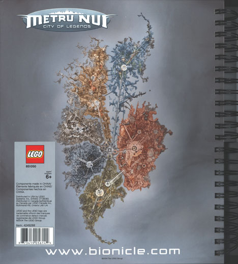 Metru Nui Notebook Back