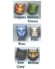Comparison of all six KRANA-KAL colors