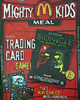 Poster promoting McDonald's Mighty Kids Meal BOHROK Cards