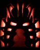 Pumpkin carved with Mask Of Light