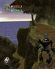 ONUA at top of cliff from <I>BIONICLE� Legend of Mata Nui</I>