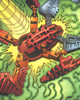 VISORAK belly from DC Comic <I>BIONICLE� #22 � Hordika Unleashed!</I>