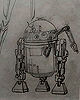 Early C-3PO And R2-D2 Concepts By Ralph McQuarrie
