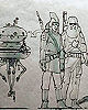 Joe Johnston Scale Drawing of Hoth Characters